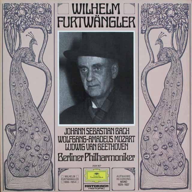 フルトヴェングラーのバッハ/ブランデンブルク協奏曲第3番ほか 独DGG    2526 LP レコード