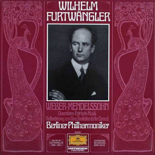フルトヴェングラーのメンデルスゾーン&ウェーバー/管弦楽名曲集 独DGG    2526 LP レコード