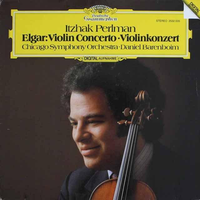 パールマンのエルガー/ヴァイオリン協奏曲 独DGG 3304 LP レコード