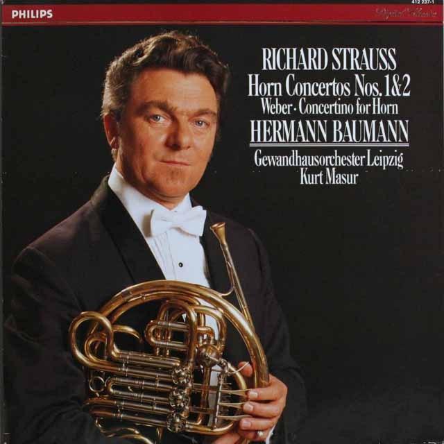 バウマンのR.シュトラウス/ホルン協奏曲 蘭PHILIPS    2527 LP レコード