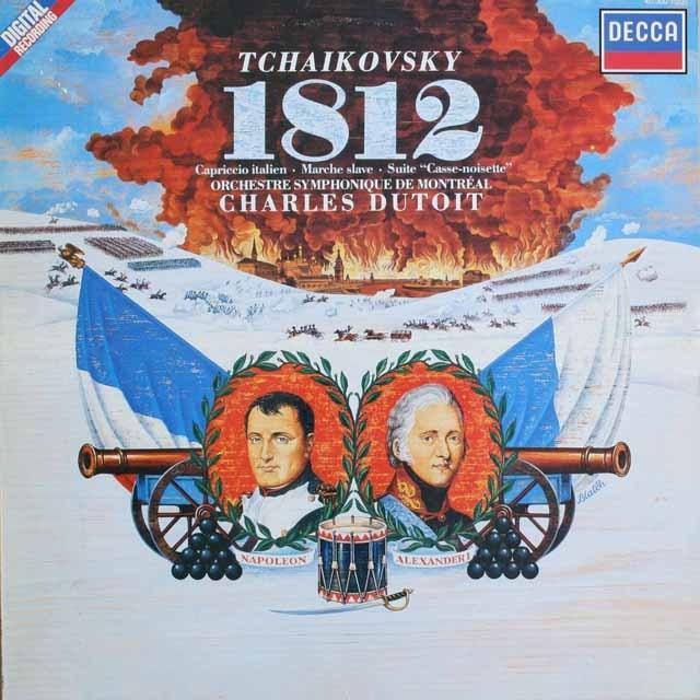 デュトワのチャイコフスキー/序曲「1812」ほか 蘭DECCA    2527 LP レコード