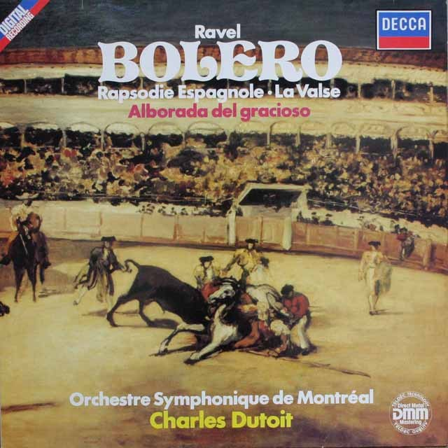 デュトワのラヴェル/「ボレロ」ほか 独DECCA    2527 LP レコード