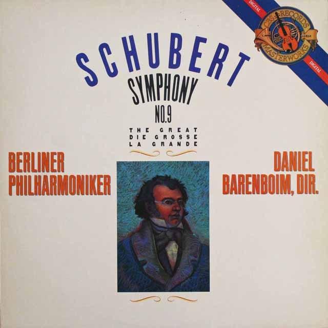 バレンボイムのシューベルト/交響曲第8(9)番「ザ・グレート」 蘭CBS 3304 LP レコード