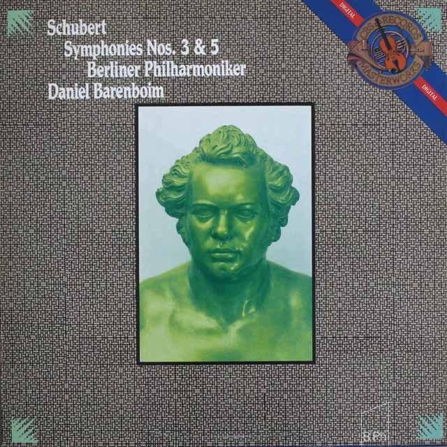 バレンボイムのシューベルト/交響曲第3&5番 蘭CBS 3304 LP レコード