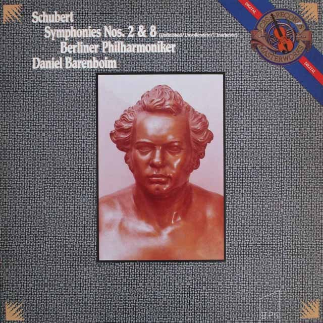 バレンボイムのシューベルト/交響曲第2&7(8)番「未完成」 蘭CBS    2527 LP レコード