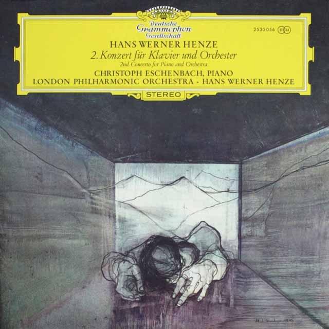 エシェンバッハ&ヘンツェのヘンツェ/ピアノ協奏曲第2番 独DGG  3304 LP レコード