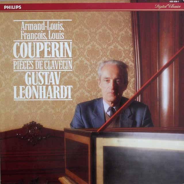 レオンハルトのクープラン家の作品集 蘭PHILIPS    2527 LP レコード