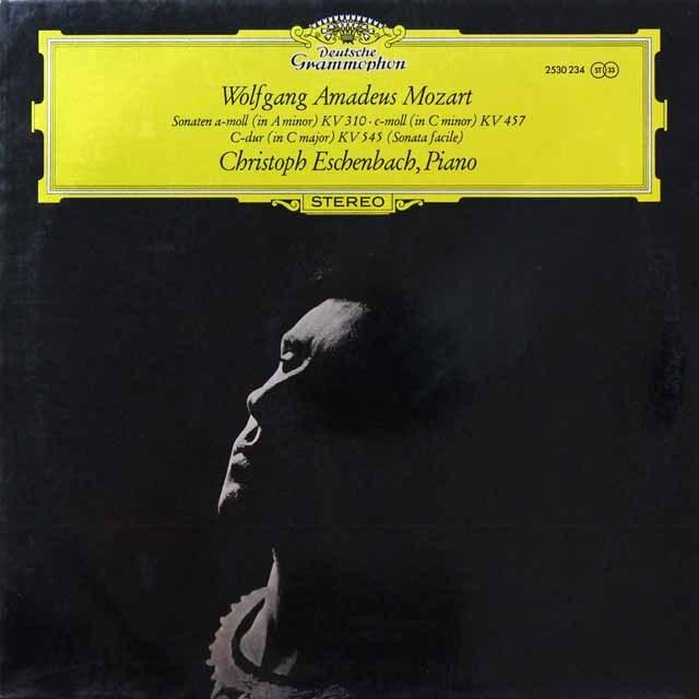 エッシェンバッハのモーツァルト/ピアノソナタ集 独DGG 2718 LP レコード
