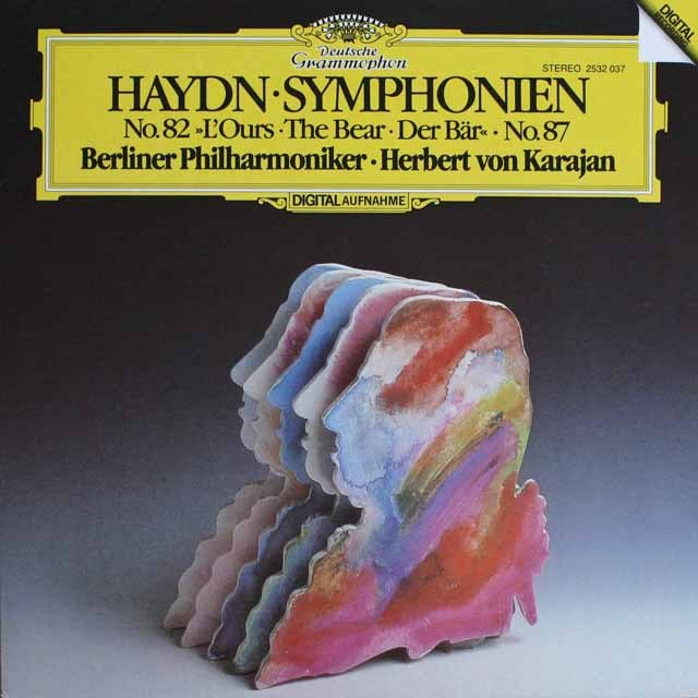 カラヤンのハイドン/交響曲第82番「熊」ほか 独DGG  HVK  LP レコード
