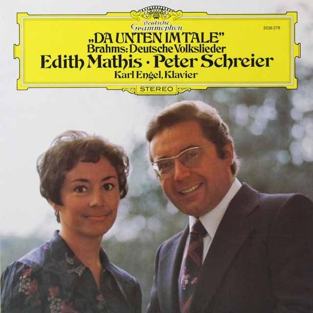 マティス&シュライアーのブラームス/ドイツ民謡集より 独DGG 3291 LP レコード