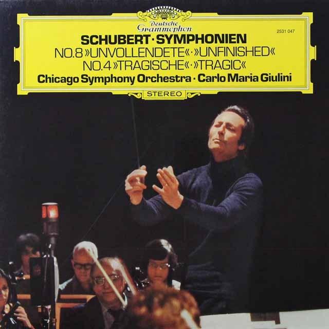 ジュリーニのシューベルト/交響曲第8番「未完成」ほか 独DGG 3291 LP レコード