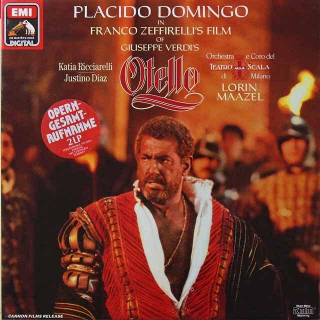 ドミンゴ&マゼールのヴェルディ/「オテロ」 独EMI 2718 LP レコード