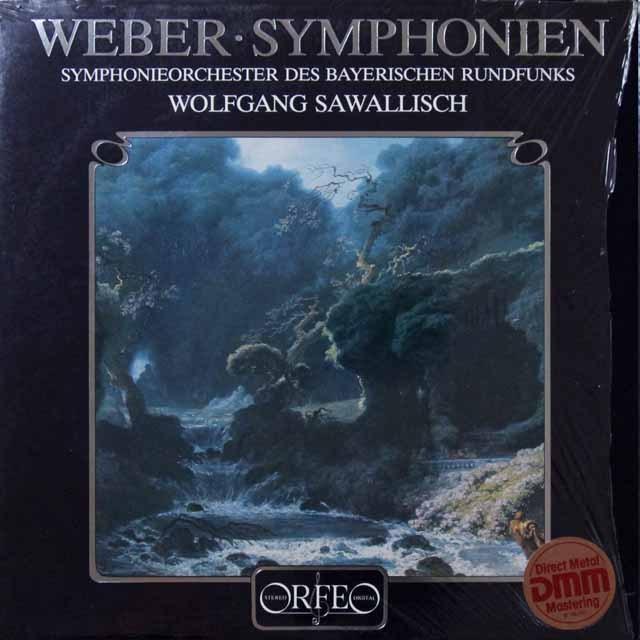 サヴァリッシュのウェーバー/交響曲第1&2番 独ORFEO 3291 LP レコード