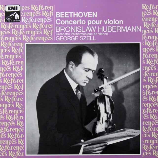フーベルマン&セルのベートーヴェン/ヴァイオリン協奏曲 仏EMI(VSM) 3291 LP レコード