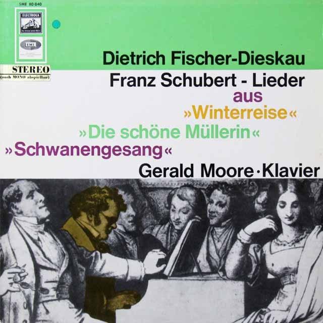 フィッシャー=ディースカウのシューベルト/歌曲集 独EMI 3291 LP レコード