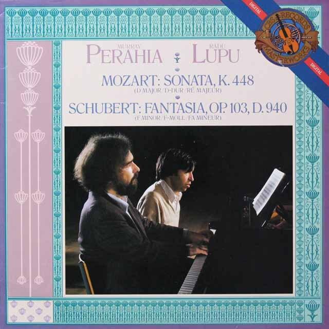 ペライア&ルプーのモーツァルト/2台のピアノのためのソナタ 蘭CBS 2719 LP レコード