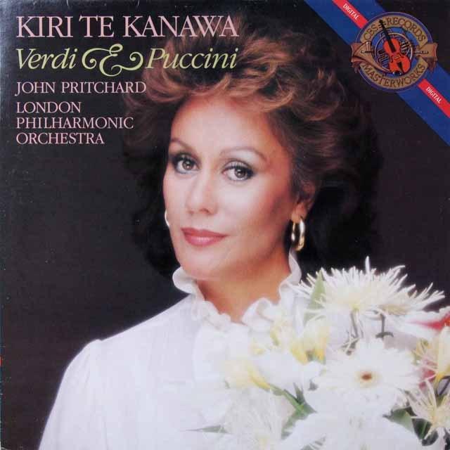 キリ・テ・カナワのヴェルディ&プッチーニ/オペラアリア集 蘭CBS 3291 LP レコード