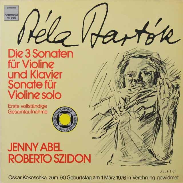 アベル&シドンのバルトーク/ヴァイオリンソナタ集 独HM 3291 LP レコード
