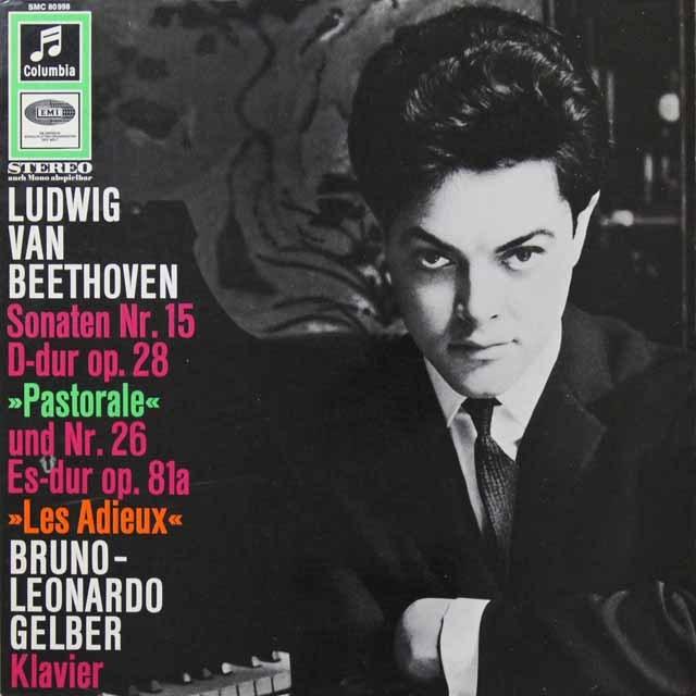 ゲルバーのベートーヴェン/ピアノソナタ「田園」&「告別」 独Columbia 3291 LP レコード