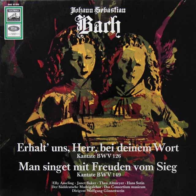 【テストプレス】 アメリング、ベイカー&ゲネンヴァインのバッハ/カンタータ集 独EMI 3291 LP レコード