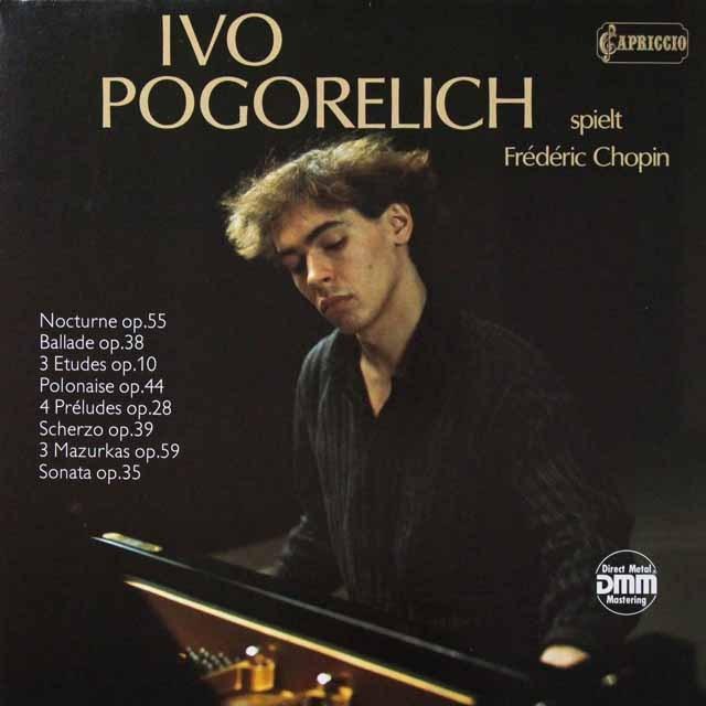 ポゴレリチのショパン/ピアノソナタ第2番ほか 独CAPRICCIO 3291 LP レコード