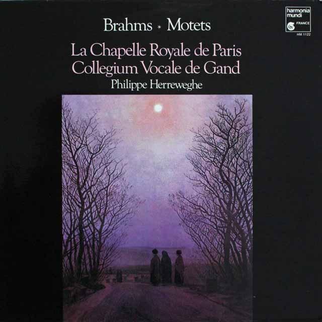 ヘルヴェッへのブラームス/モテット集 仏HM 3304 LP レコード