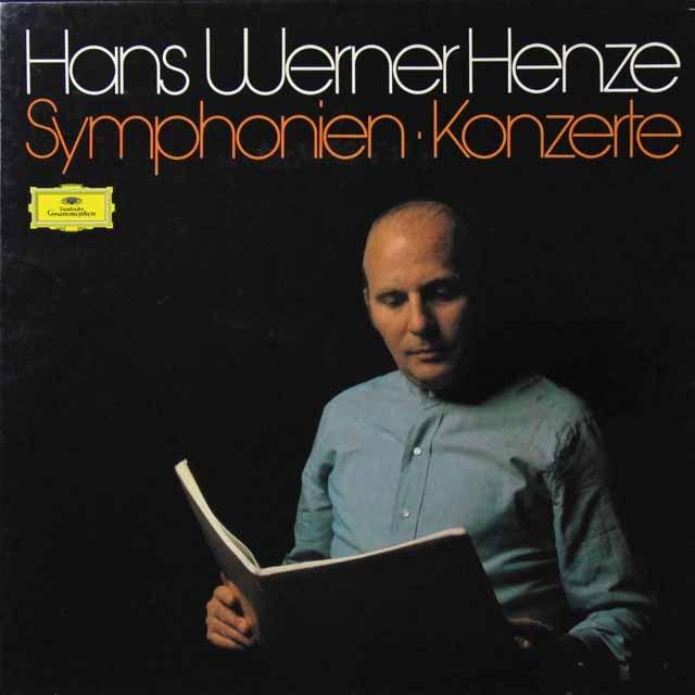ヘンツェの自作自演/交響曲&協奏曲集 独DGG 3291 LP レコード