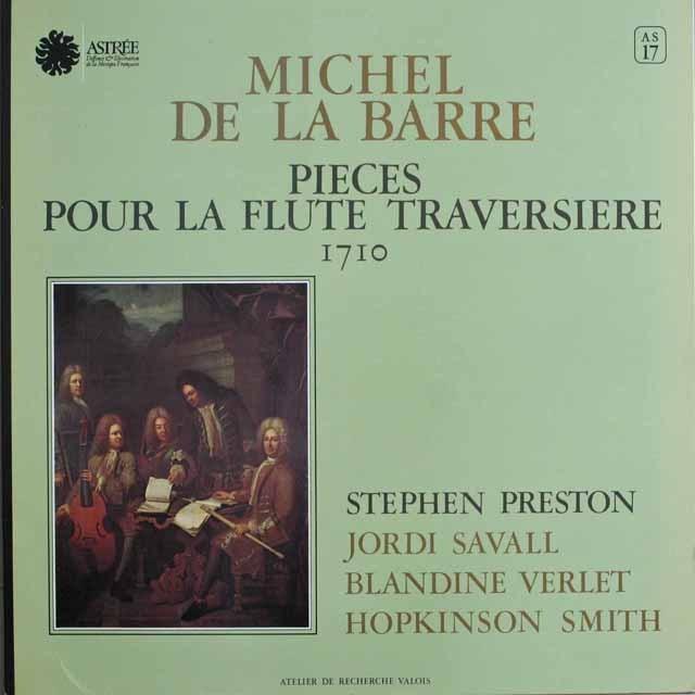 プレストンのバレ/フルート・トラヴェルソのための作品集 英ASTREE    2528 LP レコード