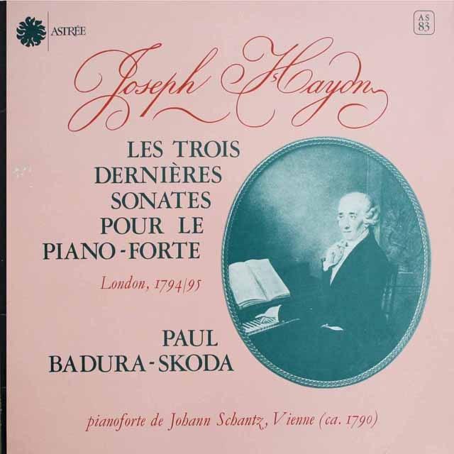 スコダのハイドン/ピアノソナタ第60・61&62番 仏ASTREE    2528 LP レコード