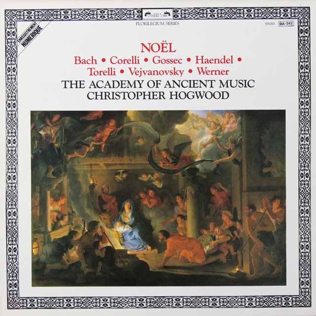 ホグウッドの「クリスマス音楽」 仏L'OISEAU-LYRE 2719 LP レコード
