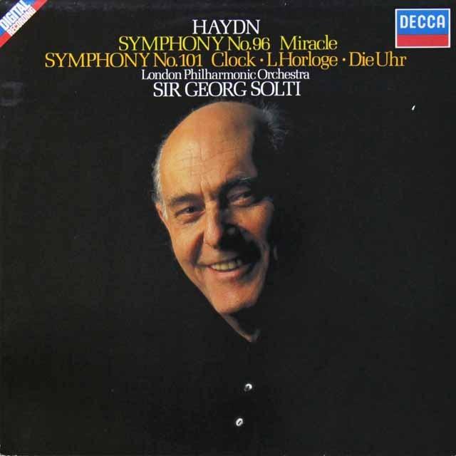 ショルティのハイドン/交響曲第96番「奇蹟」&第101番「時計」 独DECCA 3291 LP レコード