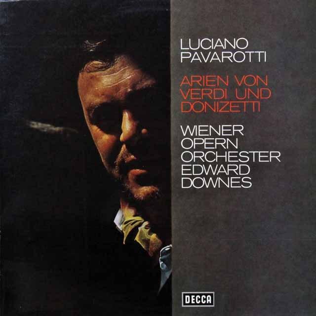 パヴァロッティのヴェルディ&ドニゼッティ/オペラアリア集 独DECCA 2719 LP レコード
