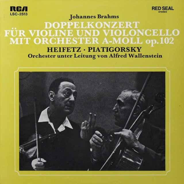ハイフェッツ&ピアティゴルスキーのブラームス/二重協奏曲 独RCA 2719 LP レコード