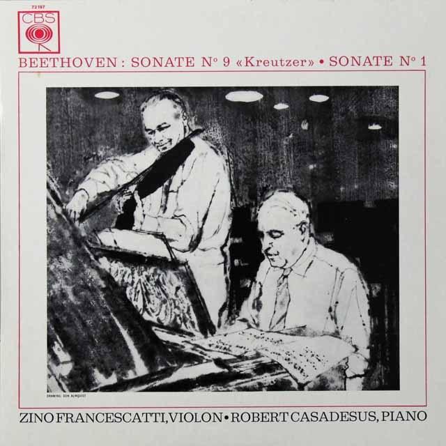 フランチェスカッティ&カサドシュのベートーヴェン/「クロイツェル」 仏CBS 2719 LP レコード