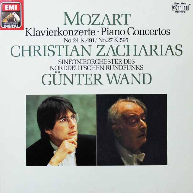ツァハリアス&ヴァントのモーツァルト/ピアノ協奏曲第24&27番 独EMI 3291 LP レコード