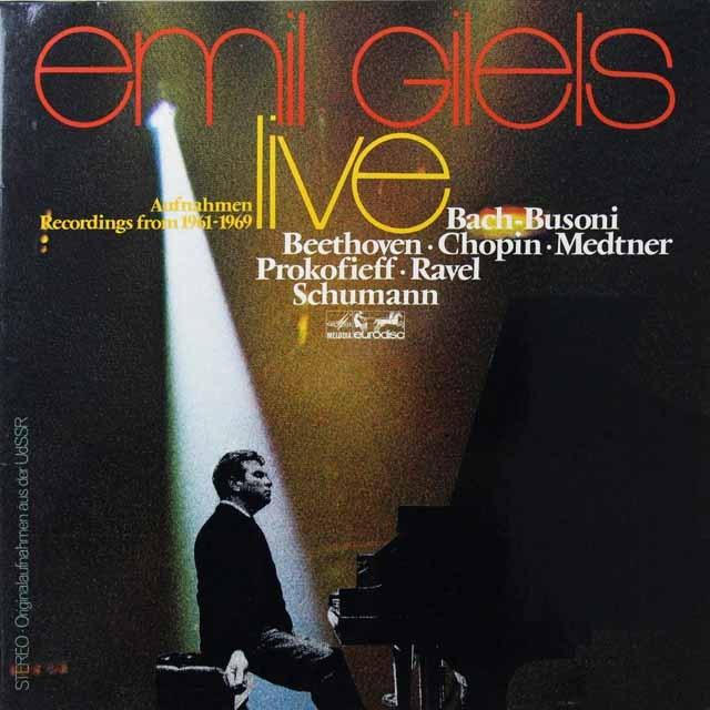 ギレリス/1961-69年ライヴ 独eurodisc 3291 LP レコード