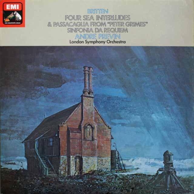 プレヴィンのブリテン/「ピーター・グライムス」から「四つの間奏曲」ほか 英EMI 3306 LP レコード