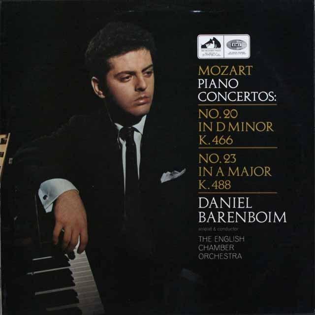 バレンボイムのモーツァルト/ピアノ協奏曲第20&23番 英EMI 3306 LP レコード