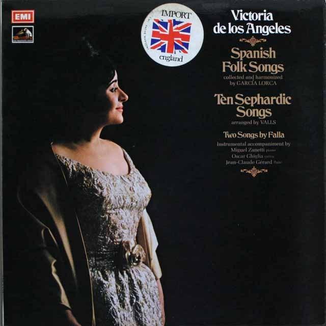 ロス・アンヘレスの「スペインの民謡」ほか  英EMI   2533 LP レコード