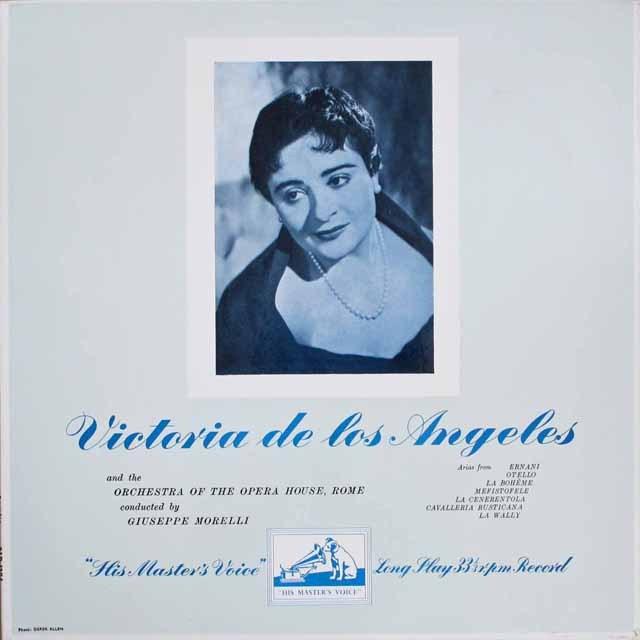 【オリジナル盤】 ロス・アンヘレスの「オペラ・アリア集」 英EMI 3306 LP レコード
