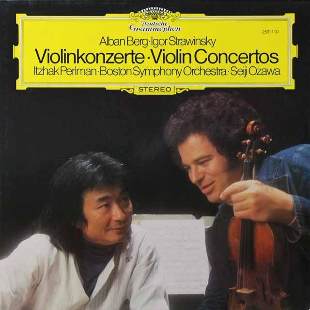パールマン&小澤のストラヴィンスキー&ベルク/ヴァイオリン協奏曲 独DGG 3290 LP レコード