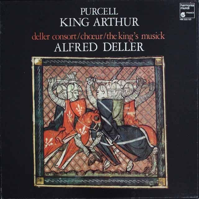 デラーのパーセル/「アーサー王」 仏HM 3305 LP レコード