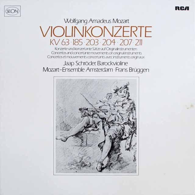シュレーダー&ブリュッヘンのモーツァルト/ヴァイオリン協奏曲 独SEON(RCA) 3305 LP レコード