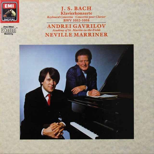 ガヴリーロフ&マリナーのバッハ/ピアノ協奏曲集 独EMI 3290 LP レコード