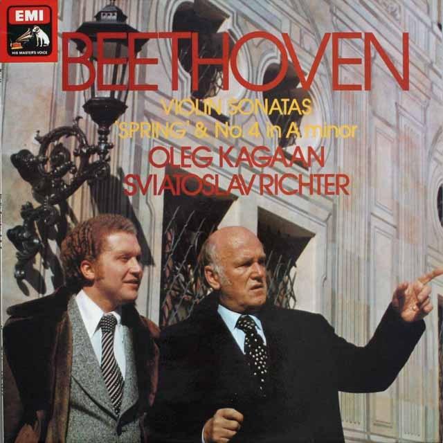 カガン&リヒテルのベートーヴェン/ヴァイオリンソナタ「春」ほか 英EMI 3305 LP レコード
