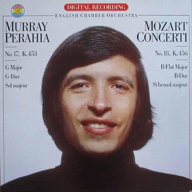 ペライアのモーツァルト/ピアノ協奏曲第17番&第18番   蘭CBS   2529 LP レコード