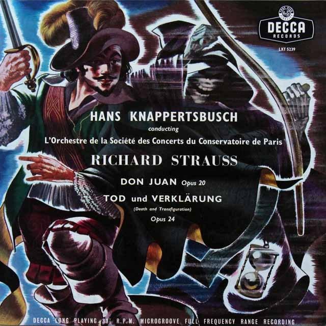 【独最初期盤】 クナッパーツブッシュのR.シュトラウス/「ドン・ファン」&「死と浄化」 独DECCA 3290 LP レコード