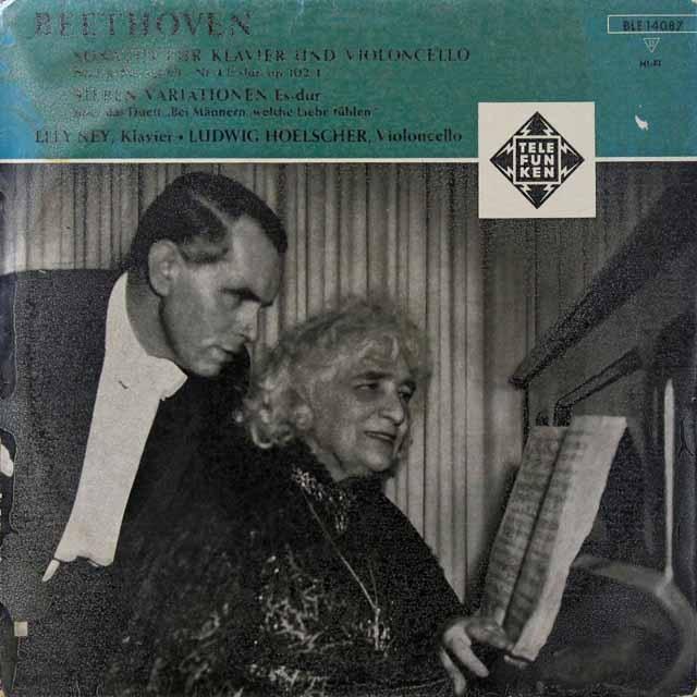 ナイ&ヘルシャーのベートーヴェン/チェロソナタ第3&4番 独TELEFUNKEN 2722 LP レコード