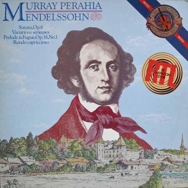 ペライアのメンデルスゾーン/ピアノソナタ第1番ほか   蘭CBS   2529 LP レコード