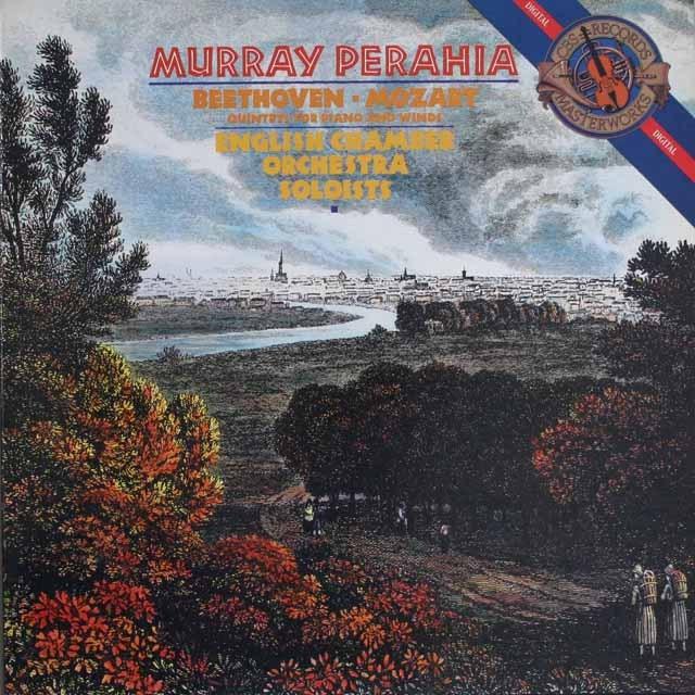ペライアのベートーヴェン&モーツァルト/五重奏曲集   蘭CBS   2529 LP レコード